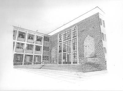 Facultad de quimica U.N Diana Londoño, dibujo arquitectonico, artista colombiana, arte y arquitectura, arte contemporáneo, absenta, avsentha, arte en bogotá, dibujantes, dibujos de edificios, Diana paola londoño Arias.wix.jpg