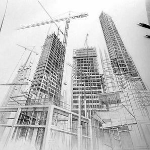 construccion Diana Londoño, dibujo arquitectonico, artista colombiana, arte y arquitectura, arte contemporáneo, absenta, avsentha, arte en bogotá, dibujantes, dibujos de edificios, Diana paola londoño Arias.