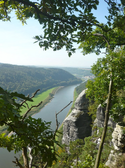 View of River Elbe from Bastei