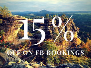 15 % OFF for our FB fans