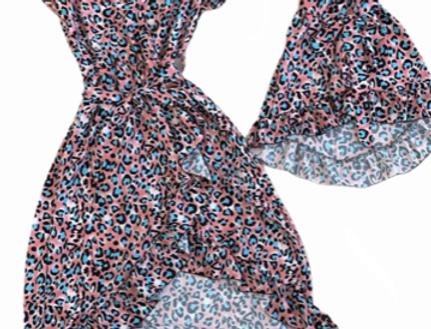 Twinning jurkjes Leopard Roze