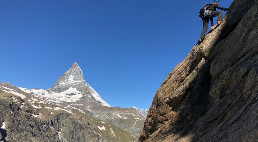 Climbing Riffelhorn