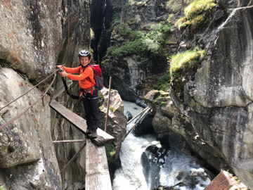 Gorner Gorge with local mountain guides