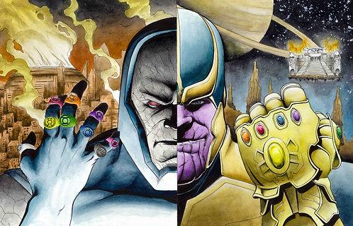 Thanos/ Darkseid Original Painting