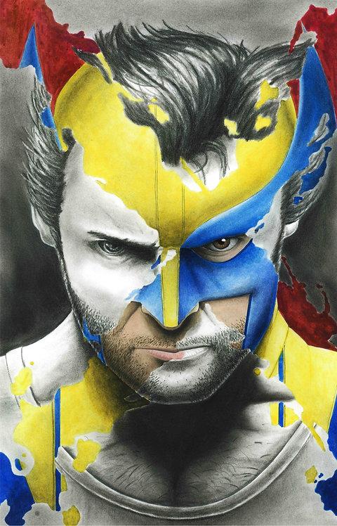 Wolverine 'X-Splatter' Portrait Original