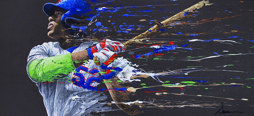 Yoenis Cespedes Painting