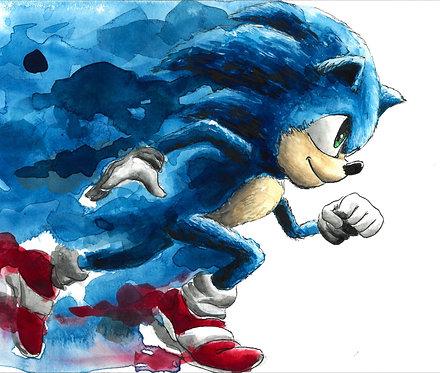 Sonic 'Splatter' Painting
