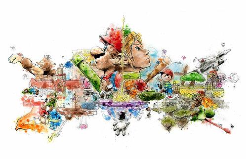 Super Smash Bros. Melee Print