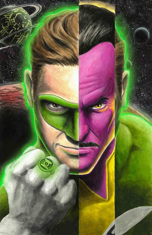 Green Lantern/Sinestro Print