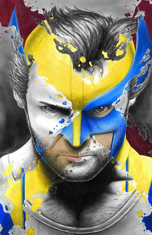 Wolverine 'X-Splatter' Print