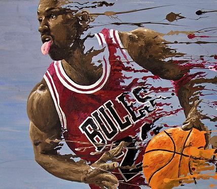 Michael Jordan 'Splatter' Print