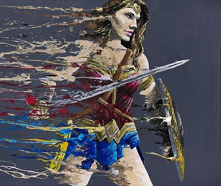 Wonder Woman 'Splatter' Print