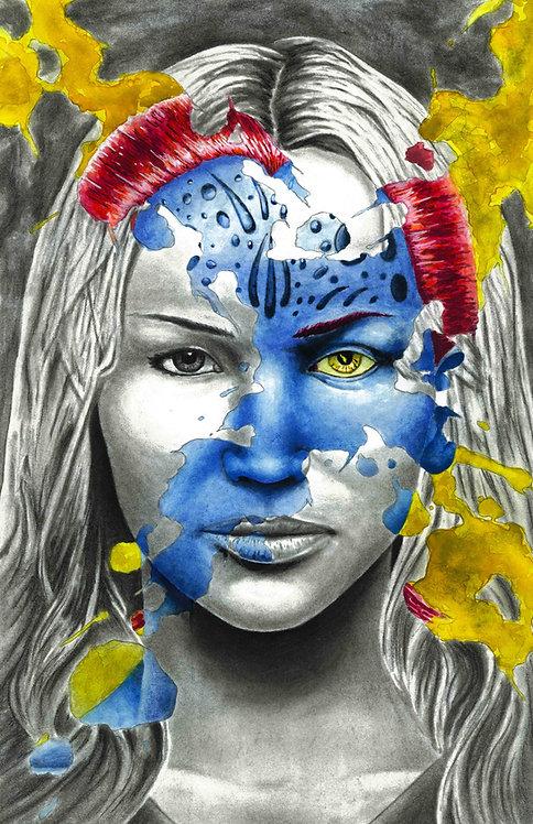 Mystique X-Splatter Portrait