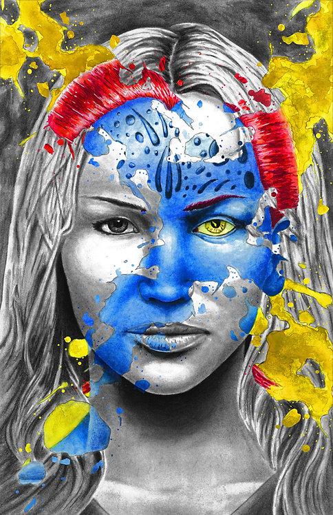 Mystique 'X-Splatter' Portrait