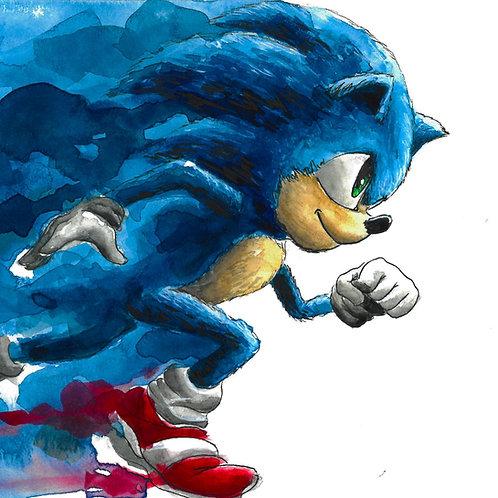 Sonic 'Watercolor' Print
