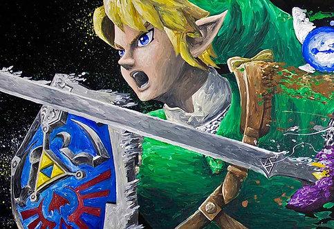 Link 'Splatter' Painting