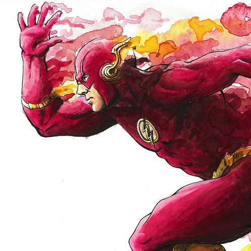 The Flash 'Watercolor' Print