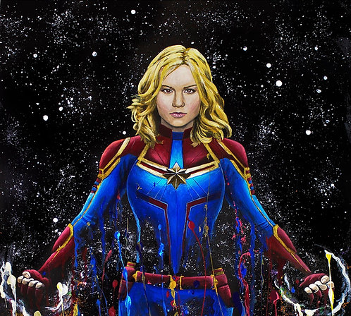 Captain Marvel 'Splatter' Print