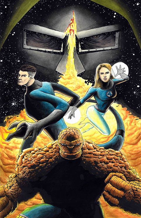Fantastic Four Painting