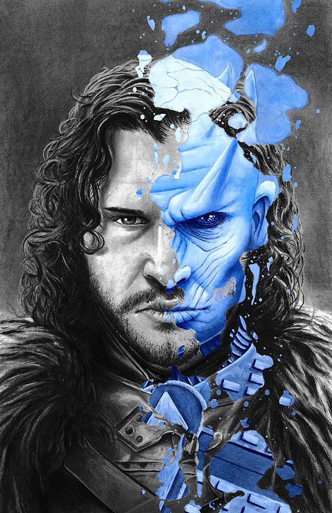 Jon Snow/ Night King Print