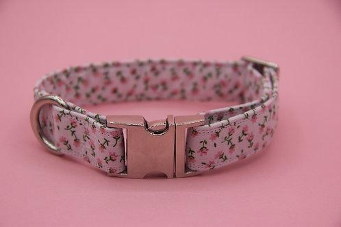 Pale Pink floral dog collar