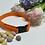 Thumbnail: Handmade Orange Polkadot Dog Collar