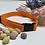 Thumbnail: Bold Orange Polkadot Dog Collar and lead set