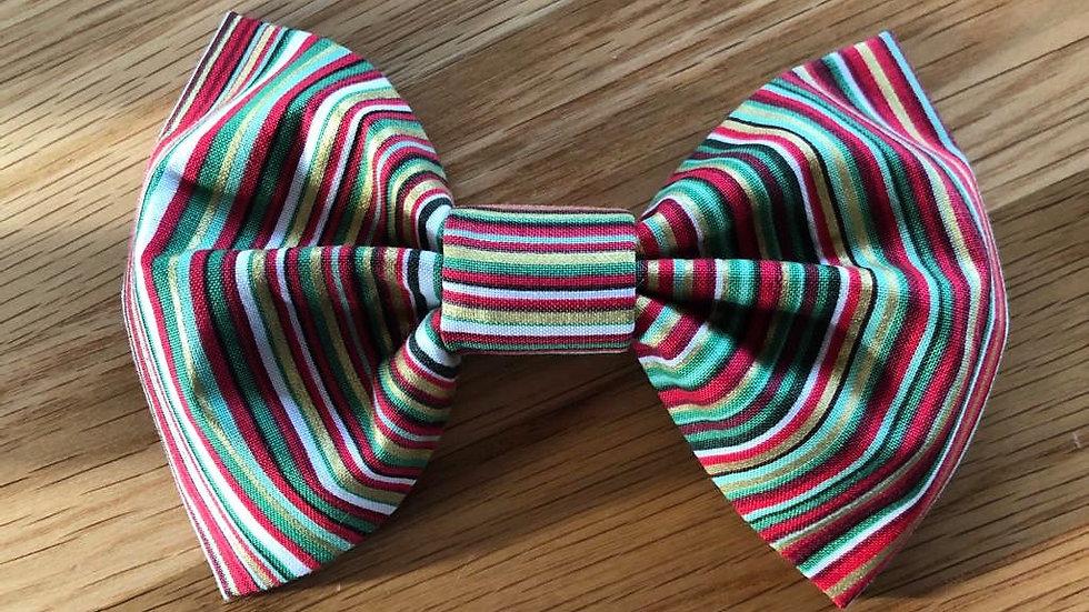 Gorgeous Handmade Striped Dog Bow Tie