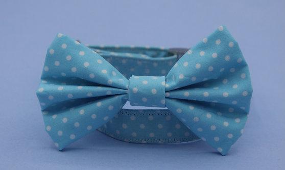 Baby Blue Polkadot Bow Tie
