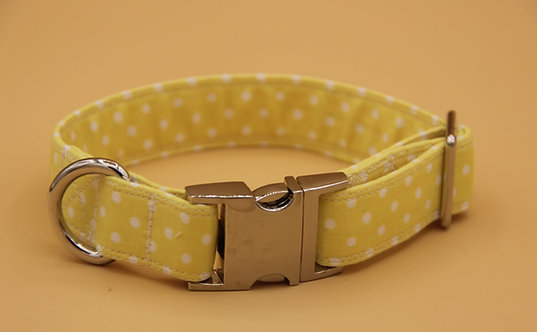 Yellow Polkadot Collar