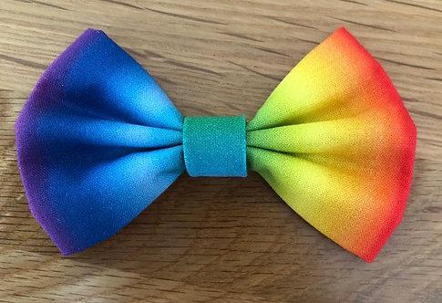 Ombré Rainbow Dog Bow Tie