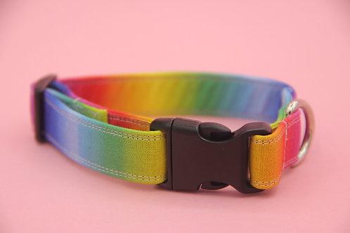 Ombré Rainbow Dog Collar