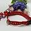 Thumbnail: Handmade Red Paw print collar