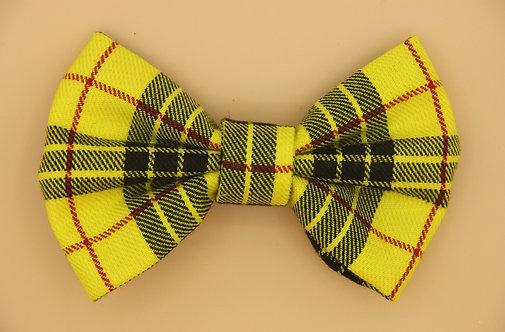 Bright Yellow Check Dog Bow Tie