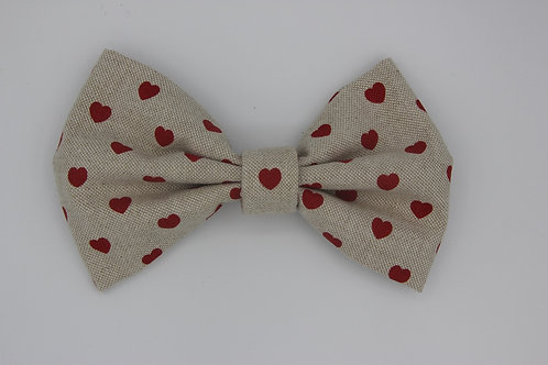 Red Hearts Bow Tie for dogs