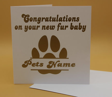 Personalised Congratulations on your new fur baby Greeting Card