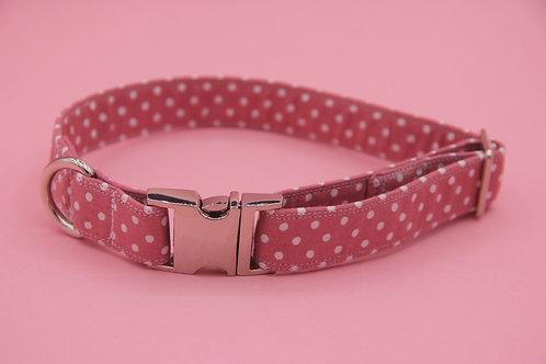 Pink Polkadot Collar