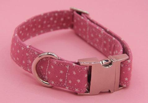 Baby Pink Star Dog Collar