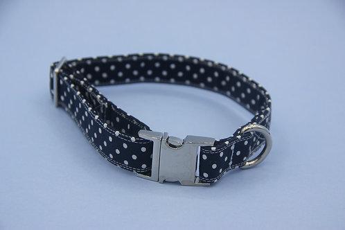Dark Blue Polkadot  Collar