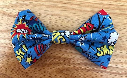 Comic Book Dog Bow Tie