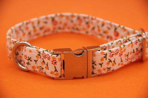 Orange Daisy Dog Collar