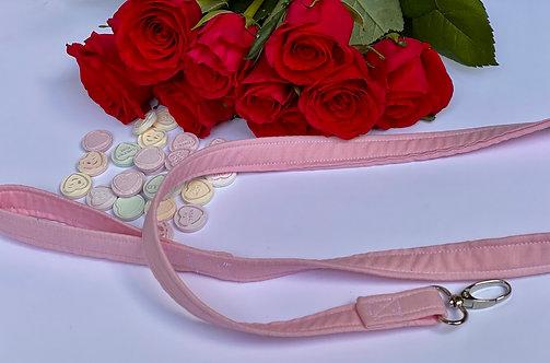 Handmade Baby Pink Dog Lead