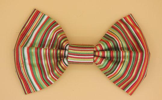 Striped Dog Bow Tie