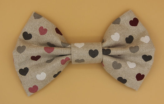 Pink heart Bow Tie for dogs
