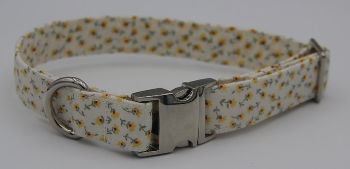 Yellow Daisy dog collar