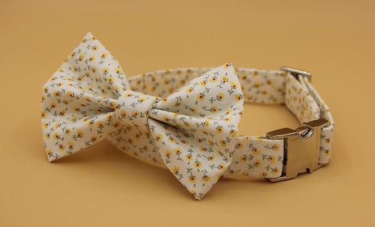 Yellow Daisy Dog Bow Tie
