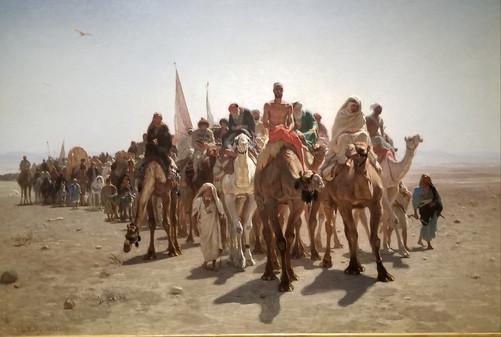 Léon Belly Pilgrims going to Mecca