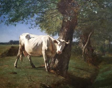 Constant Troyon Vache qui se gratte!