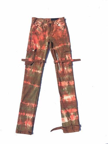 Orange & Green Bondage Pants