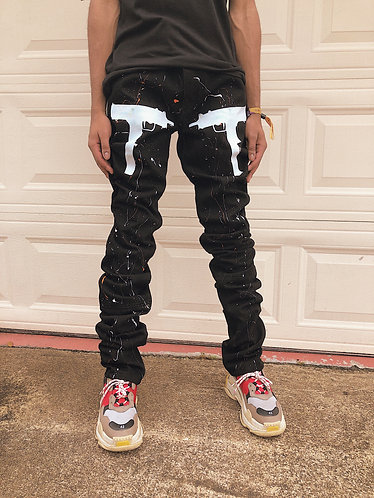 Black Uzi Denim Jeans